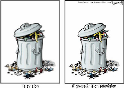 TV vs hi-def TV