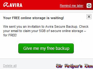 Avira Free Storage
