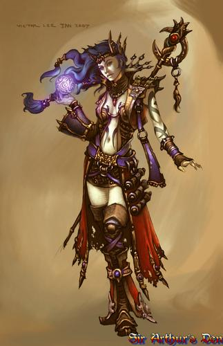 Diablo III, wizard - artwork 1