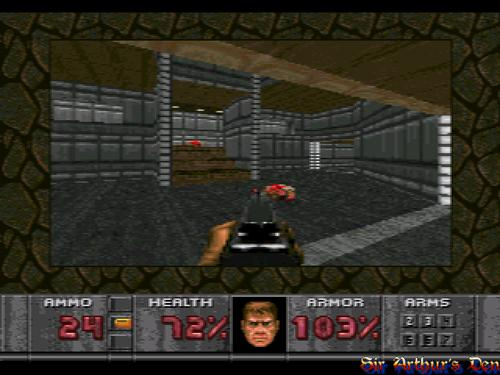 Doom on 32X screenshot