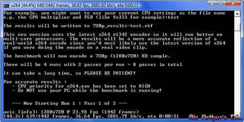 x264 HD Benchmark