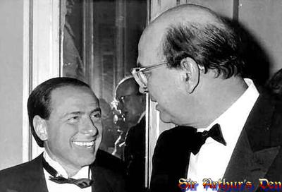 Silvio Berlusconi & Bettino Craxi nel 1984