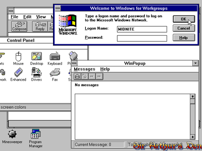 Windows for Workgroups 3.11 - screenshot