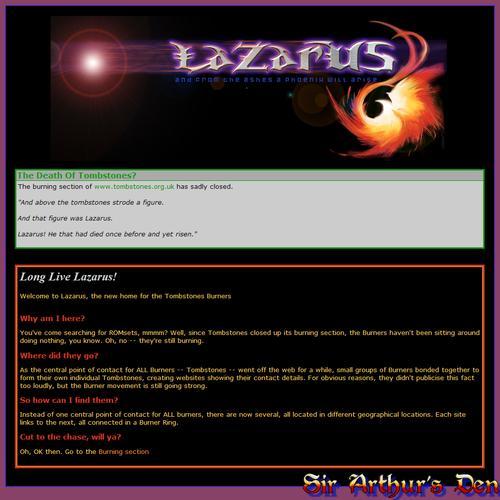 Lazarus lives!
