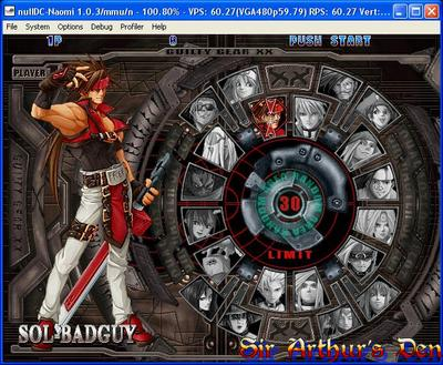 NullDC 1.0.3 - Guilty Gear screenshot 1