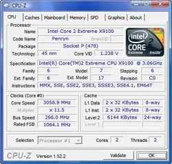 X9100 - CPU-Z