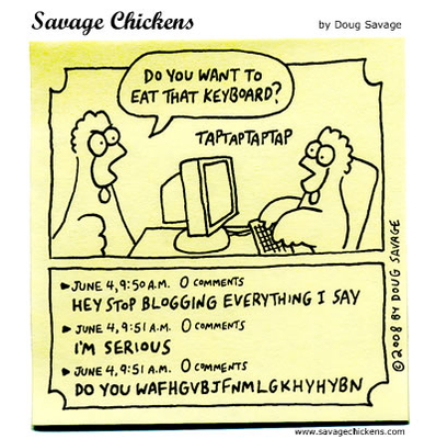 Savage Chickens - Blogging