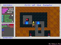 DOSBox 0.73 - Jill of the Jungle screenshot 1