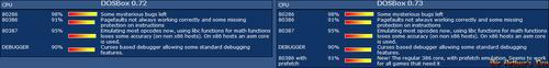 DOSBox status - CPU