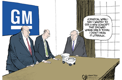TIME - Cartoons of the Week. General Motors W.C.