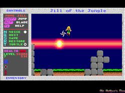 DOSBox 0.73 - Jill of the Jungle screenshot 3
