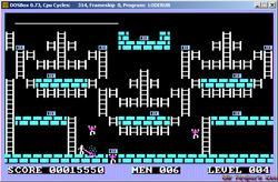 DOSBox 0.73 - Lode Runner